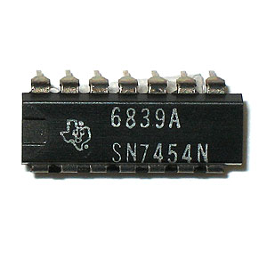 (Pkg 2) SN7454N 4-Wide AND-OR-INVERT Gates (TI)
