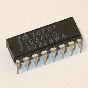74FCT163AP CMOS Synchronous Presettable Binary Counter (IDT)