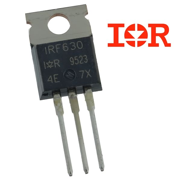 (Pkg 10) IRF630 200V Single N-Channel HEXFET Power MOSFET (IR)
