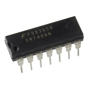 (Pkg 25) Fairchild DM7406N Hex Inverting Buffer