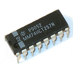MM74HCT257N Quad 2-Input Multiplexer (National)