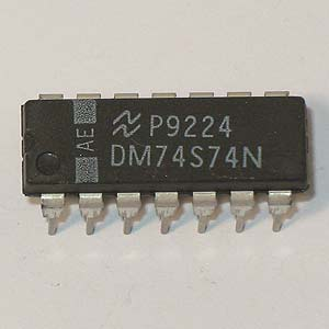 DM74S74N Dual Positive-Edge-Triggered D Flip-Flop (National)