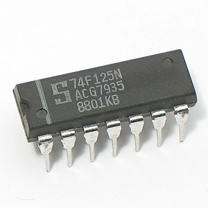 74F125N Quad Bus Buffer Gate w/3-State Outputs (Signetics)