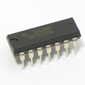 SN74LS393N Dual 4-Bit Decade And Binary Counter (TI)