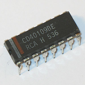 CD40109BE CMOS Quad Low-to-High Voltage Level Shifter (RCA)