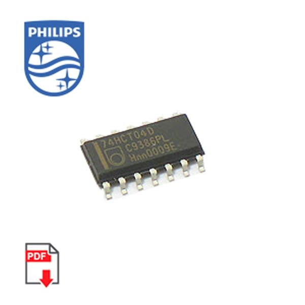 (Pkg 50) 74HCT04D SMD Hex Inverter (Philips)