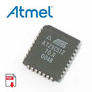 AT29C512-70JI 512K (64K x 8) 5-V Only Flash Memory (Atmel)