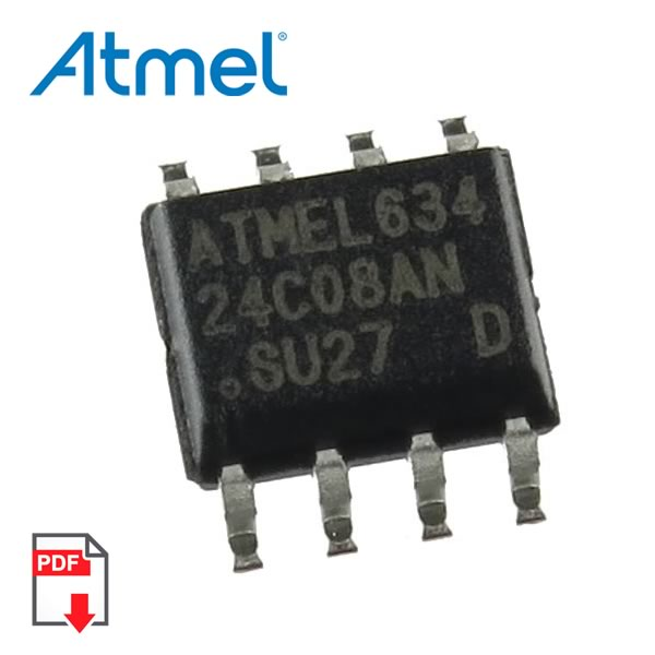 (Pkg 5) AT24C08AN-10SU-2.7 Two-Wire Serial EEPROM (Atmel)