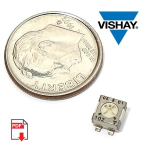 TS53YL102MR10 SMD Trimmer/Pot 20% 1K SQ POT (Vishay)