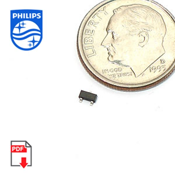 (Pkg 50) MMBT2222A NPN Switching Transistor (Philips)