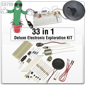 33 in 1 Deluxe Electronics Exploration Kit (C6709)