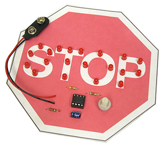 Flashing Stop Sign Kit
