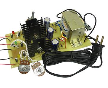 Regulated Triple Output DC Power Supply Kit