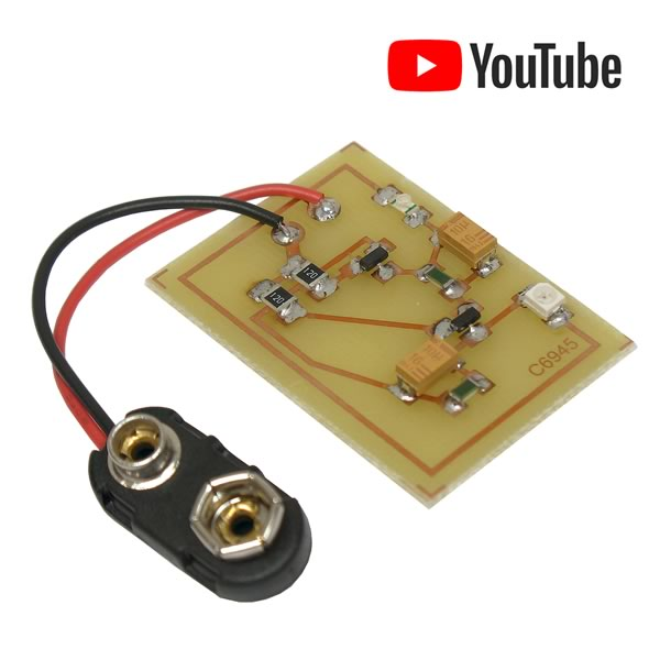 Brilliant Red and Blue SMD Flasher Kit