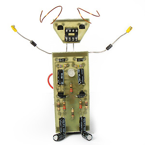 Magical LED Learn to Solder Robot Kit