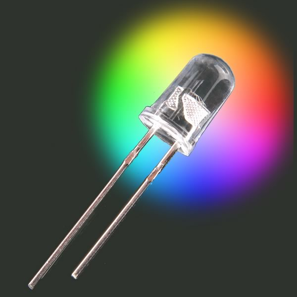 (Pkg 20) Rainbow Flashing 5mm LED