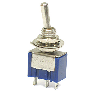 (Pkg 5) SPDT Miniature Toggle Switch