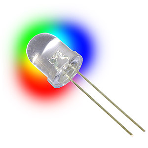 Giant 10mm Rainbow Flashing LED