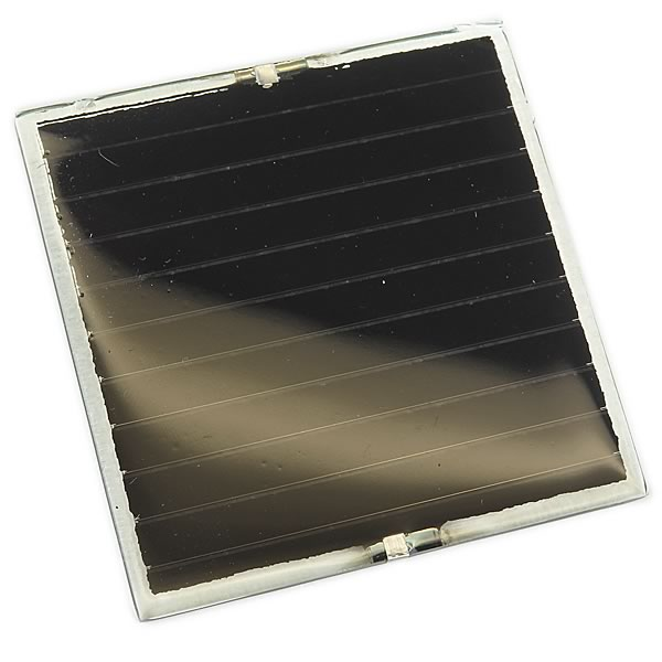 Compact Lightweight 3.6V 70mA Solar Panel (2.4 x 2.4)
