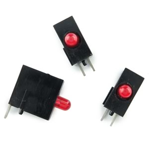 (Bag of 50)   Single Red LED Right Angle Indicator