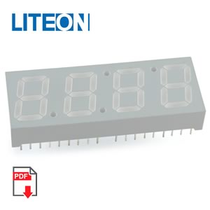 (Pkg 10)  4 Digit 7 Segment Yellow Common Anode Display