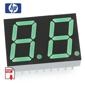 HP HDSP-K511 2 Digit Common Anode Green 7 Segment Display