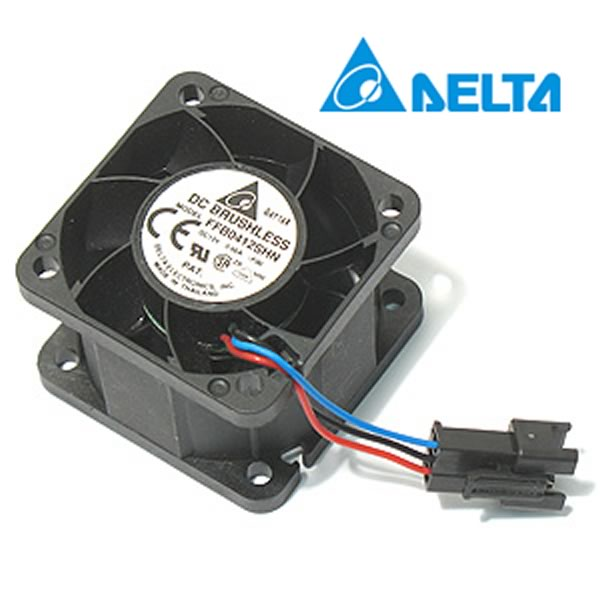 (Pkg 2) Delta Model FFB0412SHN-F00 Fan with 3 Pin Connector