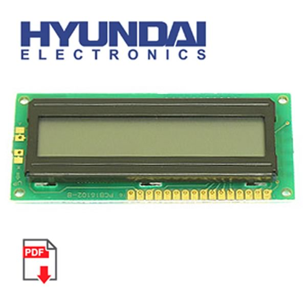Sale! Hyundai HC16102-B 1 Line 16 Character Display
