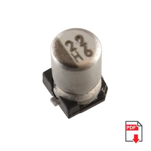 6.3V 22uF SMD Electrolytic Capacitor by Nippon Chemi-con