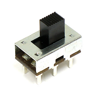(Pkg 10) Standard Size DPDT 3Amp Slide Switch