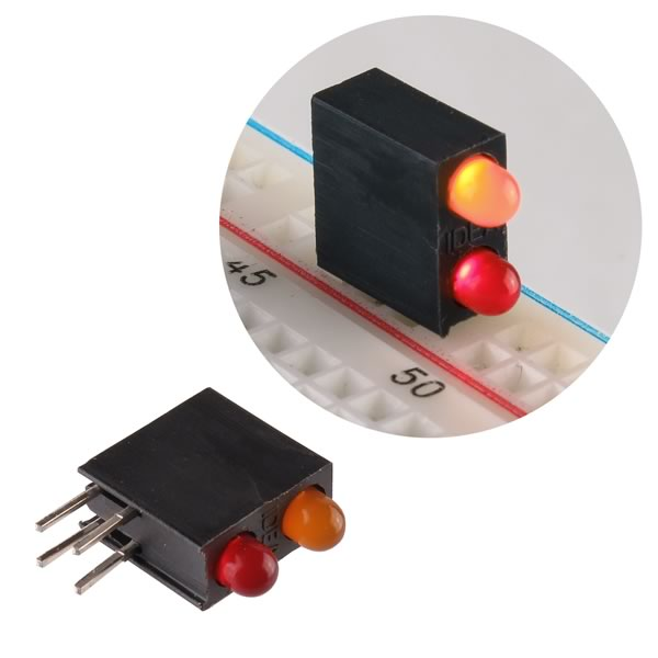 (Pkg 10) Red/Yellow LED Indicator (Ideal# G78B/0+H)