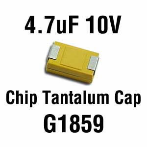 4.7uF 10V SMD Capacitor (Pkg of 3)