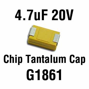 4.7uF 20V SMD Capacitor (Pkg of 3)