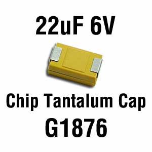 22uF 6V SMD Capacitor (Pkg of 2)