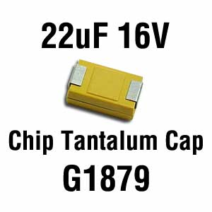 22uF 16V SMD Capacitor (Pkg of 2)