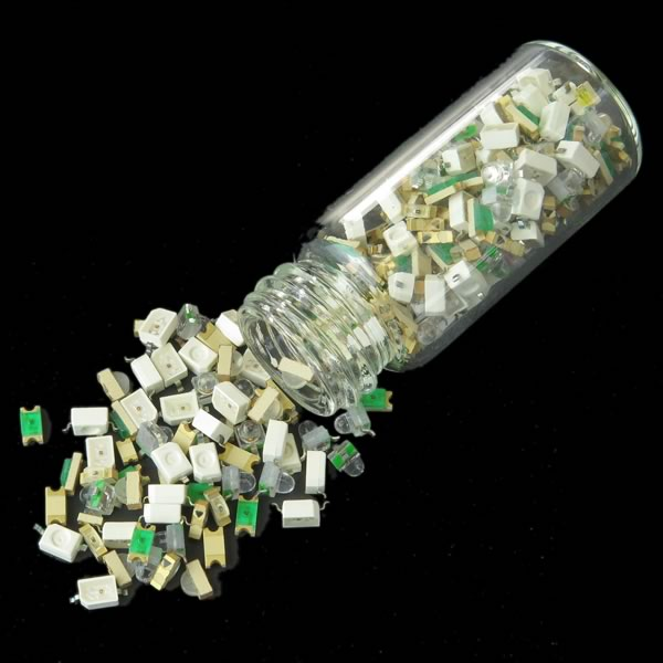SALE - Glass Vial of SMD LEDs