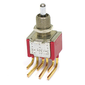 C&K Miniature 7203 DPDT Toggle Switch