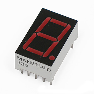 MAN6760 Red Common Anode 7 Segment Display