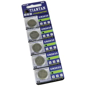 (Card of 5) 3V CR2032 Lithium Coin Batteries