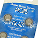 Card of 10 AG13 Alkaline Button Batteries
