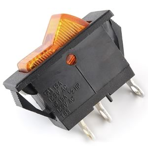 15Amp Lighted Rocker Switch