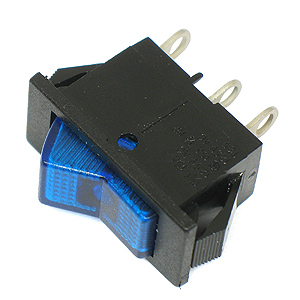 (Pkg 10) Lighted Blue SPST 15Amp Rocker Switches