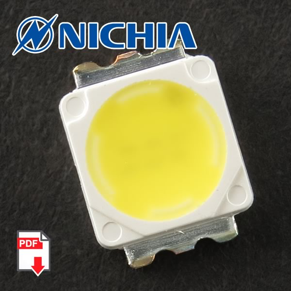 225 Lumen 73CD 3.3Watt Nichia White LED NS6W183RT