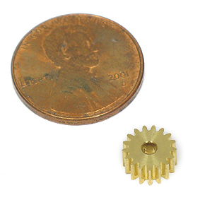 Miniature 17 Tooth Brass Pinon Gear