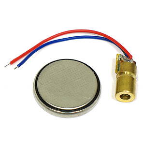 3V Red Laser Module and Coin battery