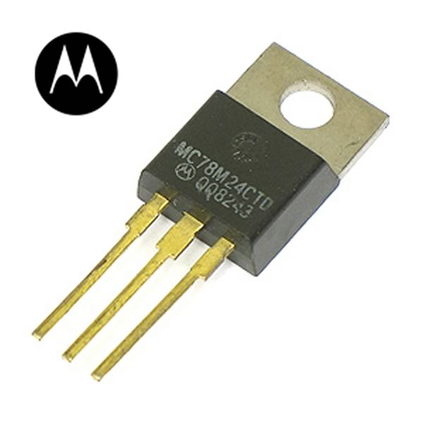 (Pkg 50)  MC78M24CT +24VDC 0.5A Voltage Regulators