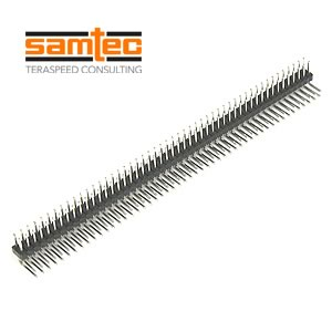 Samtec Dual Row 50 Pin Right Angle Header Part# TSW-150-22-T-D-RA