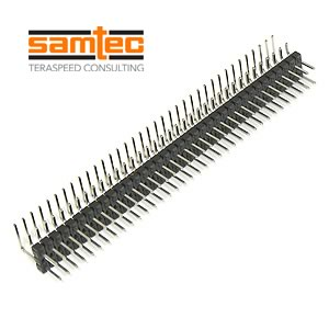 Samtec Dual Row 36 Pin Right Angle Header Part# TSW-136-08-T-Q-RA