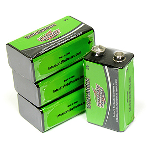 WORKAHOLIC 4 Pack of 9V Alkaline Batteries