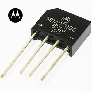 (Pkg of 2) Motorola MDA970G6 600V 4Amp Bridge